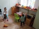 Kącik zabaw dla najmłodszych w MGOPS w Nowej Sarzynie